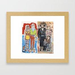 Hipster Couple/Hassidic Family Framed Art Print