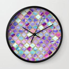 Magenta Moroccan Wall Clock