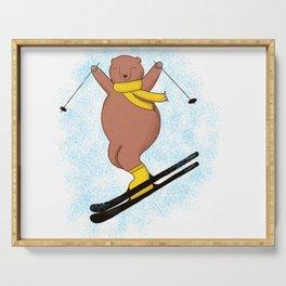 Bear skiing Serving Tray