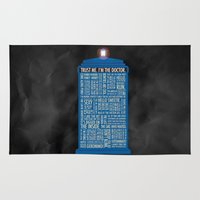 doctor who Area & Throw Rugs featuring Doctor Who  by Luke Eckstein