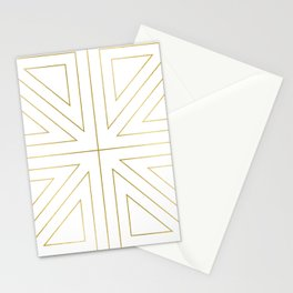 Angled 2 White Gold Stationery Cards