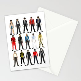 Outfits of King MJ Pop Music Stationery Cards