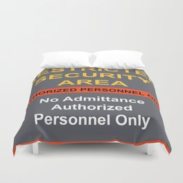 Restricted Security Area Duvet Cover