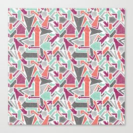 Patterned Arrows Canvas Print