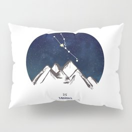 Astrology Taurus Zodiac Horoscope Constellation Star Sign Watercolor Poster Wall Art Pillow Sham