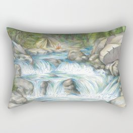 Streams in the Desert Rectangular Pillow