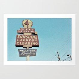 Sunshine Laundry Cleaning Art Print