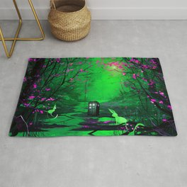 Tardis Stay Lost In The Forest Rug
