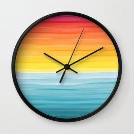 Sunset on the Ocean Minimalist Painting Wall Clock