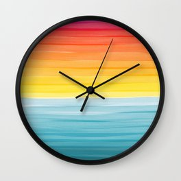 Sunset on the Ocean Minimalist Painting Wall Clock