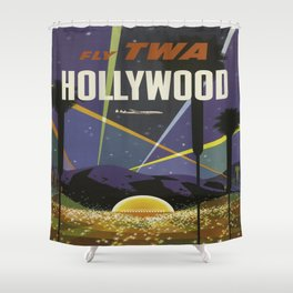 Vintage poster - Hollywood Shower Curtain