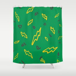 ThunderBolt Print Shower Curtain