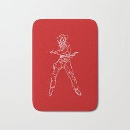 Crimson Cowgirl Bath Mat