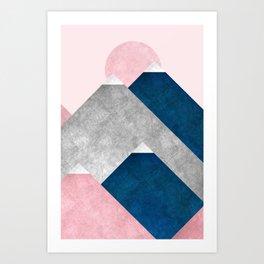 Modern Mountain No2-P2 Art Print