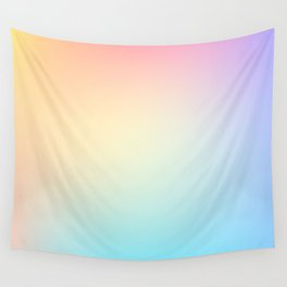 EUPHORIA / Plain Soft Mood Color Tones Wall Tapestry