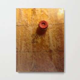 Shuffleboard Metal Print
