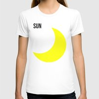 sun and moon T-shirts featuring SUN by try2benice