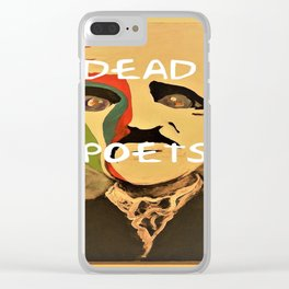 Poe, Dead Poets Art Clear iPhone Case