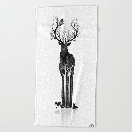 The black deer Beach Towel