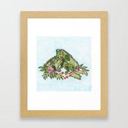 Las Iguanas Framed Art Print