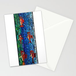 Fishes (white) Stationery Cards
