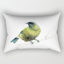 Korimako, the Bellbird Rectangular Pillow