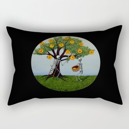 Embryo Tree (black background) Rectangular Pillow