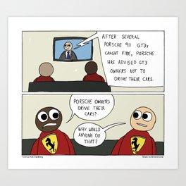 """Intended Purpose"" - Stuck in Reverse comic Art Print"