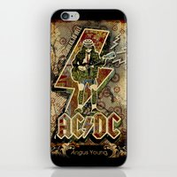 acdc iPhone & iPod Skins featuring AC/DC angus young by aceofspades81
