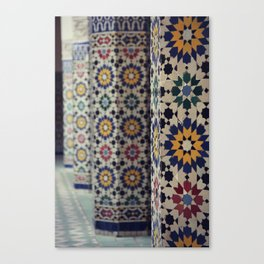 Flower Columns Canvas Print