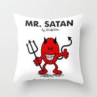 satan Throw Pillows featuring Mr Satan by NicoWriter