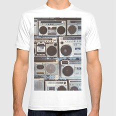Boom boxes White MEDIUM Mens Fitted Tee