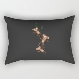 monkey chain Rectangular Pillow