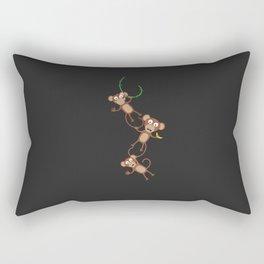 monkey chain Rectangular Pillow