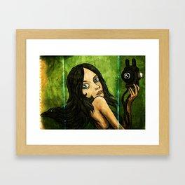 Raven Hair Framed Art Print