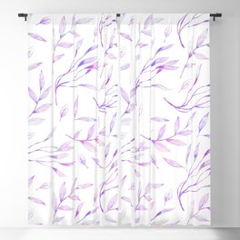 Botanical colorful pink lilac watercolor floral pattern Blackout Curtain