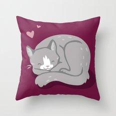 Kitty Love Throw Pillow