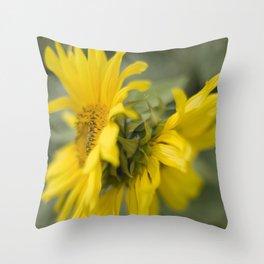 Siamese twin flowers Throw Pillow