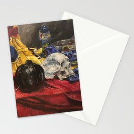 Skull still life 2 Stationery Cards