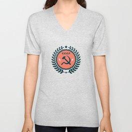 Hammer Sickle Communist Badge Unisex V-Neck