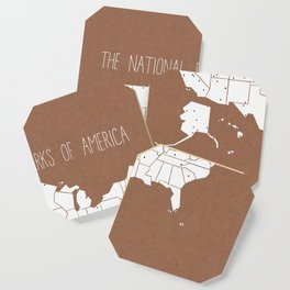 The Hand-Painted National Parks of America Coaster