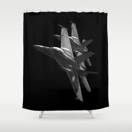 US Military Fighter Attack Jets Shower Curtain