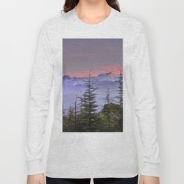 Pink sunset at the snowy mountain. Yesterday Long Sleeve T-shirt