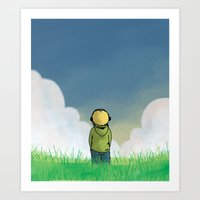 relax Art Prints featuring Relax by Janko Illustration