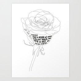 Unique Rose Art Print