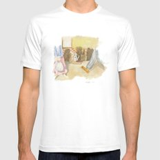 Please a little help! White Mens Fitted Tee MEDIUM