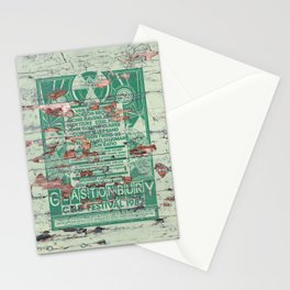 Distressed Glastonbury 1982 Poster Stationery Cards
