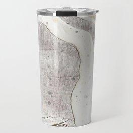 Feels: a neutral, textured, abstract piece in whites by Alyssa Hamilton Art Travel Mug