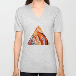 The Vivid Imagination of Nature, Layers of Agate Unisex V-Neck