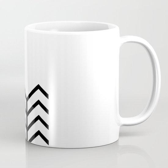 BLACK & WHITE LACE CHEVRON Mug